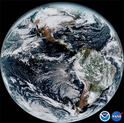 NOAAs GOES Satellite Sends First Images To Earth East County - Today satellite image of world