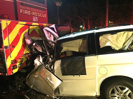 Antioch Man Dies After Rear Ending Fire Truck, Three