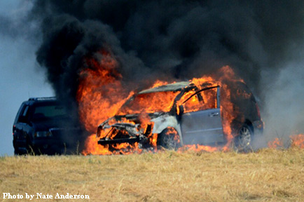 5ce3fb8825 Oakley  Vehicle Fire on Laurel Road Shuts Down On-Ramp to Highway 4 ...