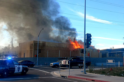Arco Gas Station >> Antioch: Arco Gas Station Under Construction Catches Fire | East County Today