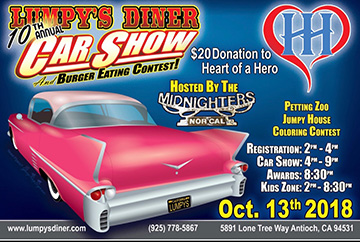 The Community Is Invited To Come Down To Lumpys Diner In Antioch For Their Annual Car Show And