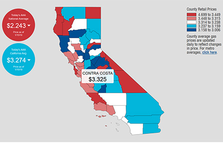 Gas Prices In California >> Aaa California Gas Prices Drop But Still Are Highest In Nationeast