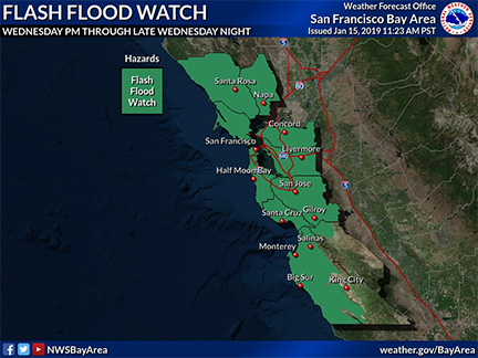 Flash Flood Watch Issued for Wednesday Afternoon