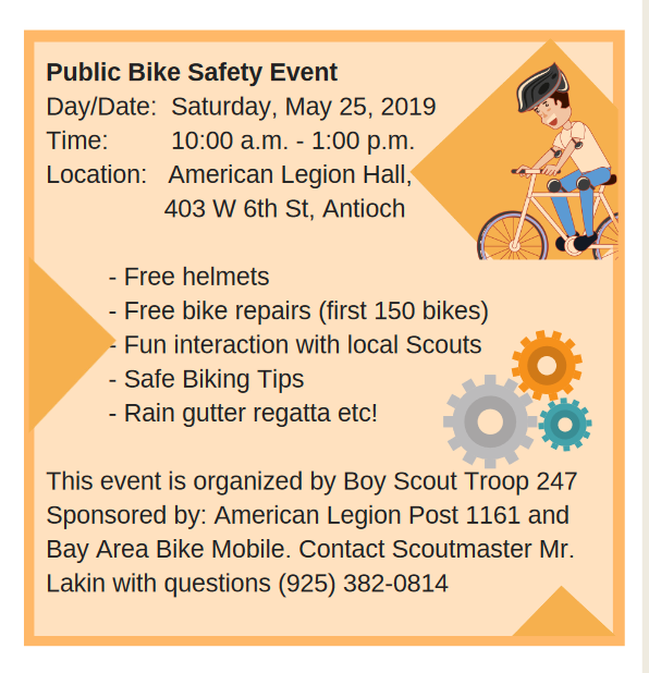 Saturday Community Bike Rodeo In Antioch East County Today