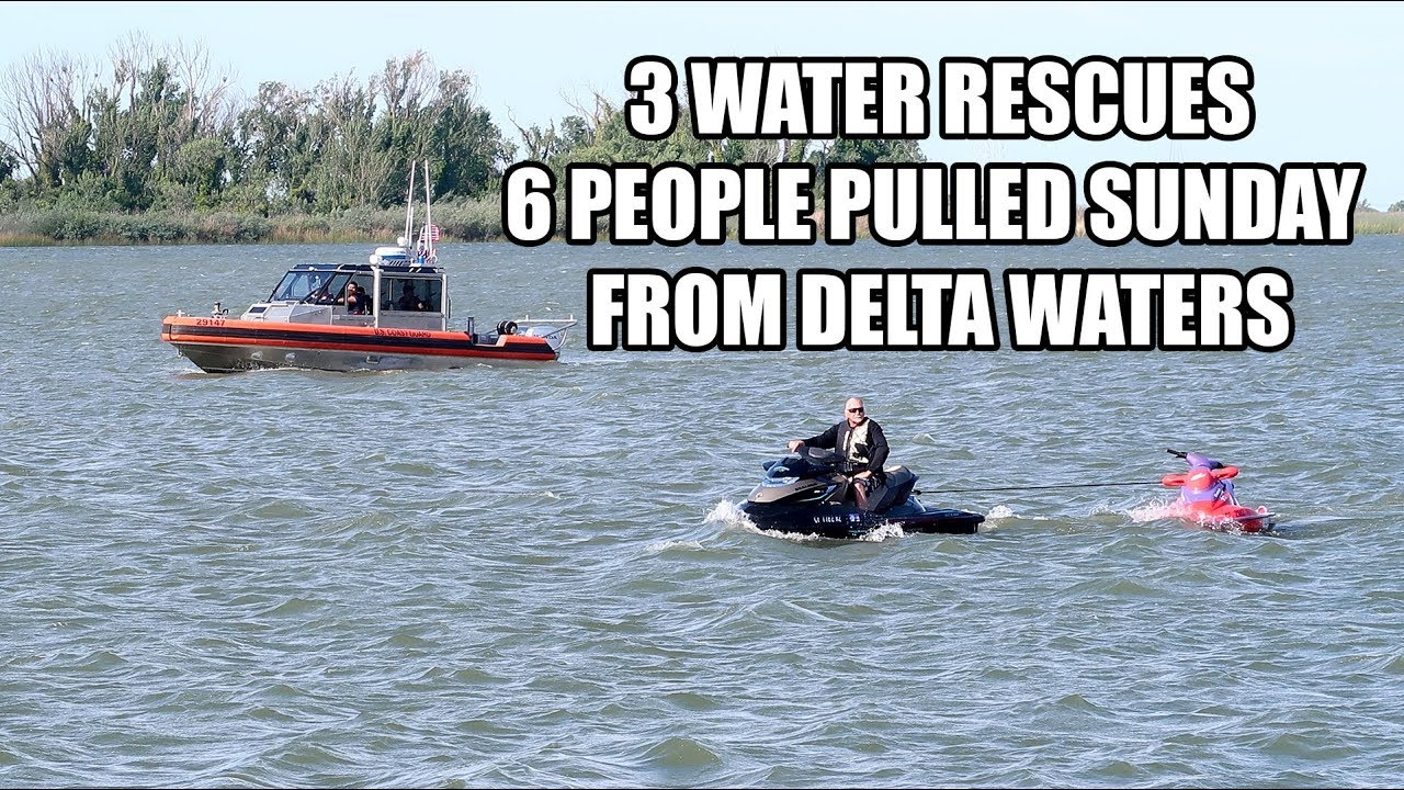 Firefighters Responded To 3 Water Rescues, 6 People Pulled