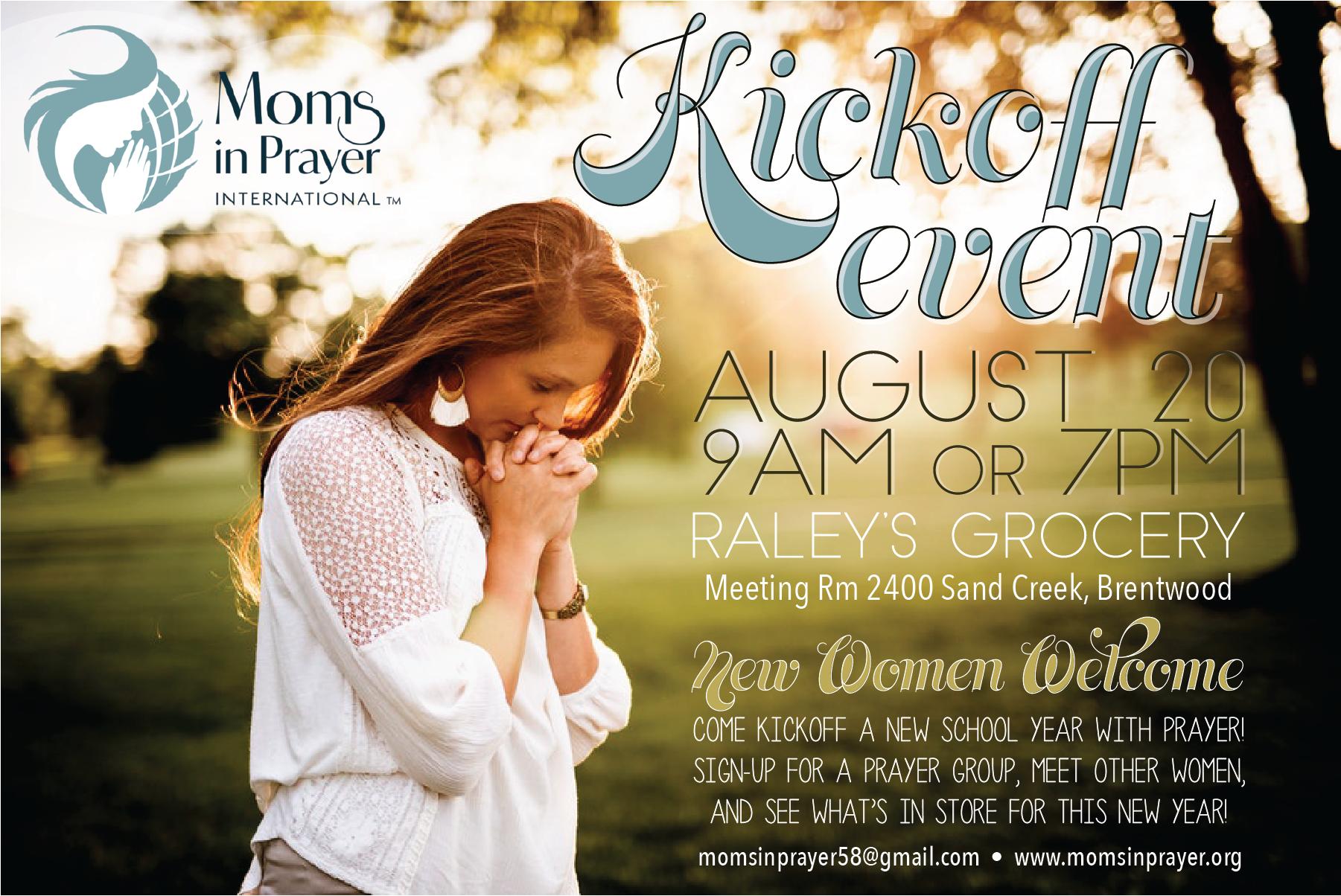 Moms In Prayer Kickoff