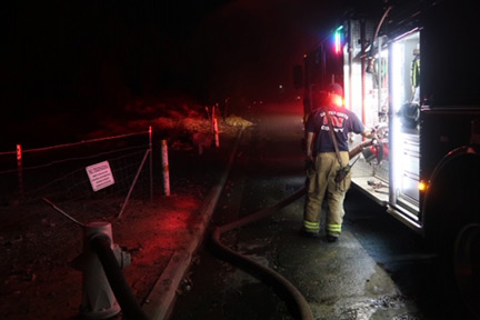 Antioch: Firefighters Make Quick Work of Homeless Fire off Marie Ave