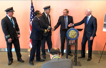 """Rep. DeSaulnier and Captain """"Sully"""" Sullenberger Announce Safe Landings Act"""